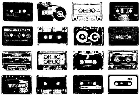 Cassette-tape-music-collage
