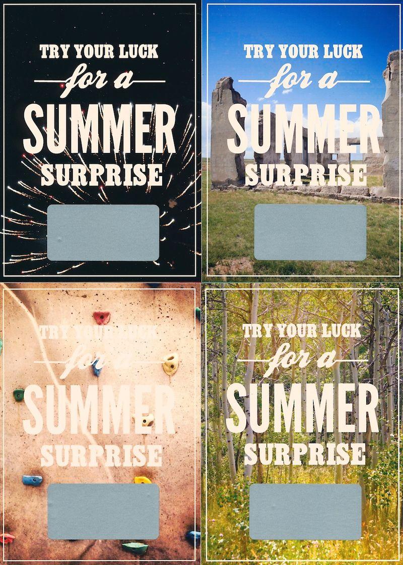 Summer Surprise Scratch-Off Cards