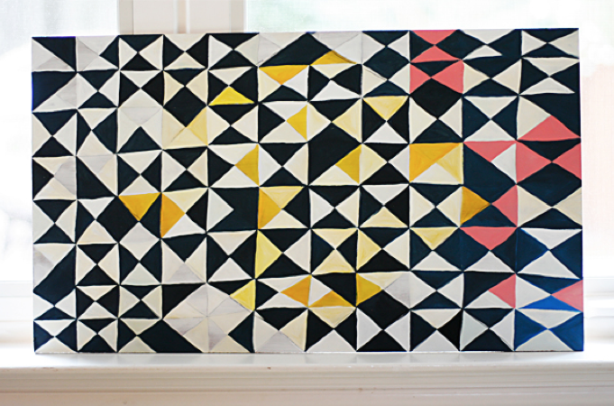 Julie Comstock's unfinished painting (no guilt!)
