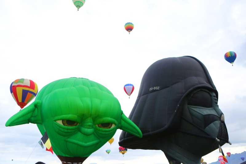 Albuquerque International Balloon Fiesta: Master Yoda and Darth Vader
