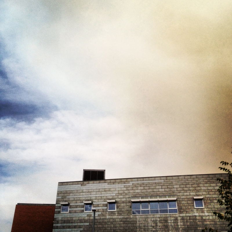 High Park Fire smoke, downtown Cheyenne