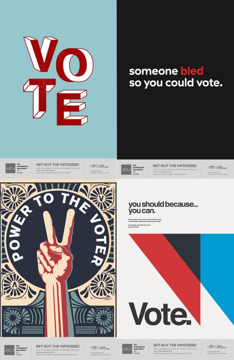 AIGA Vote posters