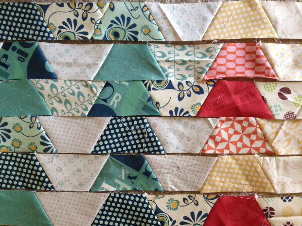 Julie Comstock's quilt in progress