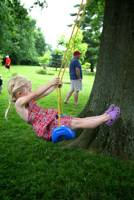 Nothing Beats a Tree Swing While Waiting For Picnic Food