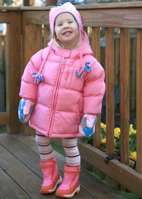 Pink Puffy Coat   December 17