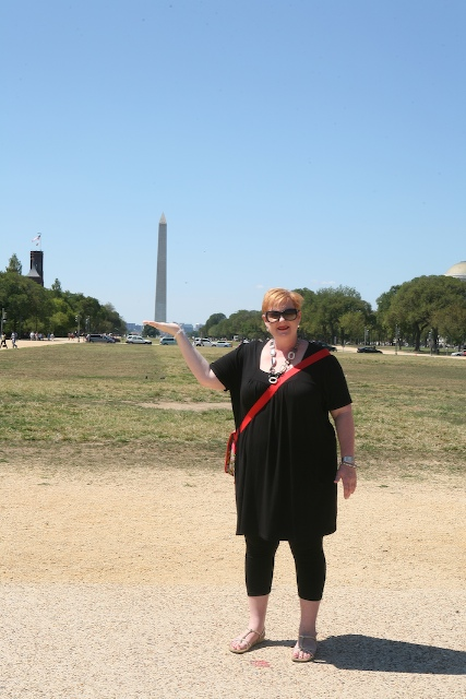 Nikki's Got the Washington Monument In Her Hands