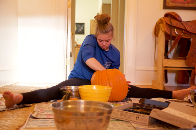 How Gymnasts Carve Pumpkins
