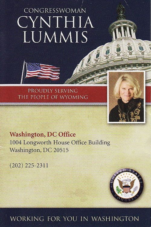 Thank You, Rep. Cynthia Lummis